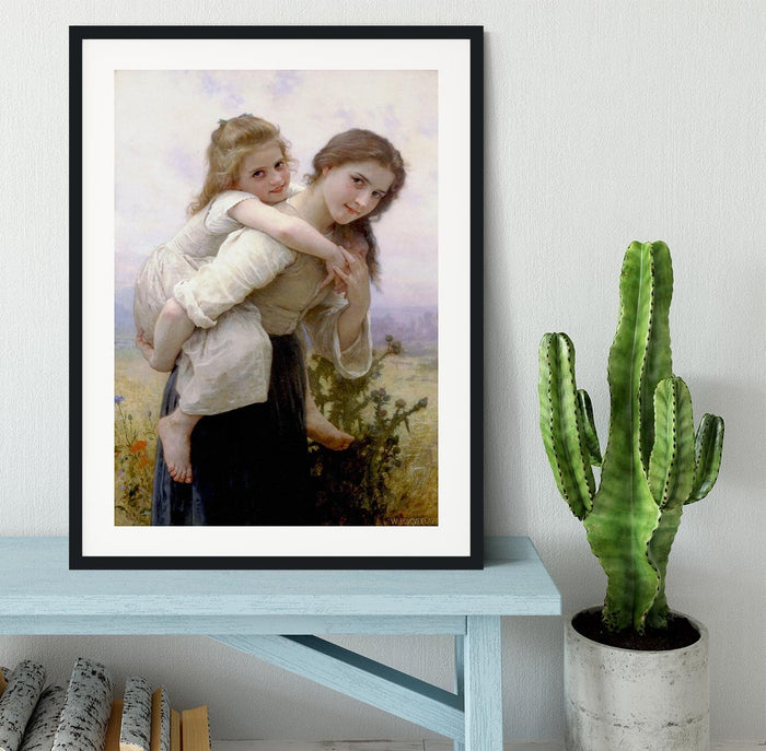 Not Too Much To Carry By Bouguereau Framed Print