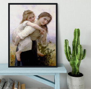 Not Too Much To Carry By Bouguereau Framed Print - Canvas Art Rocks - 2