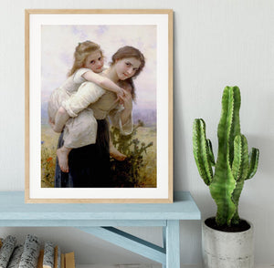 Not Too Much To Carry By Bouguereau Framed Print - Canvas Art Rocks - 3