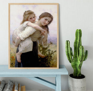 Not Too Much To Carry By Bouguereau Framed Print - Canvas Art Rocks - 4