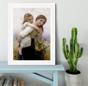 Not Too Much To Carry By Bouguereau Framed Print - Canvas Art Rocks - 5