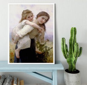 Not Too Much To Carry By Bouguereau Framed Print - Canvas Art Rocks -6