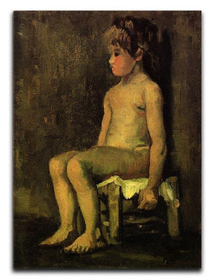 Nude Study of a Little Girl Seated by Van Gogh Canvas Print & Poster  - Canvas Art Rocks - 1
