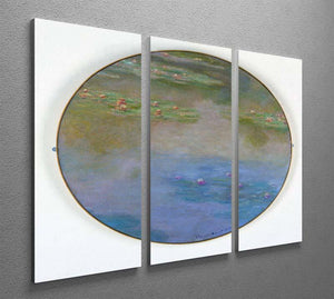 Nympheas By Manet 3 Split Panel Canvas Print - Canvas Art Rocks - 2
