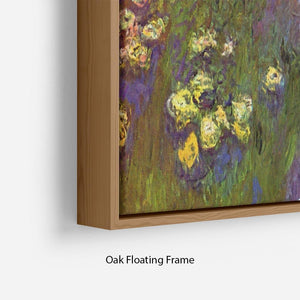 Nympheas water plantes by Monet Floating Frame Canvas