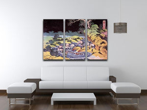 Ocean landscape by Hokusai 3 Split Panel Canvas Print - Canvas Art Rocks - 3