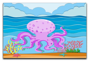 Octopus in the ocean Canvas Print or Poster  - Canvas Art Rocks - 1