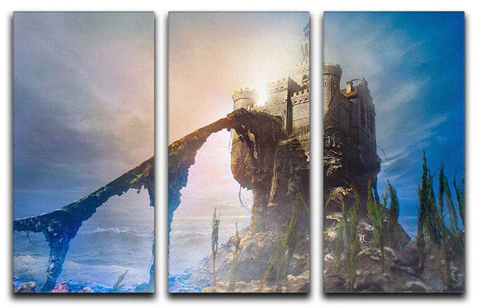 Old castle on the hill 3 Split Panel Canvas Print