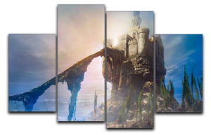 Old castle on the hill 4 Split Panel Canvas  - Canvas Art Rocks - 1