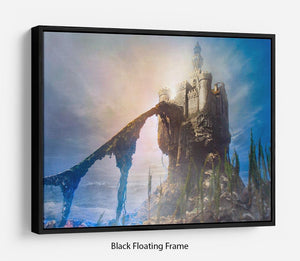 Old castle on the hill Floating Frame Canvas