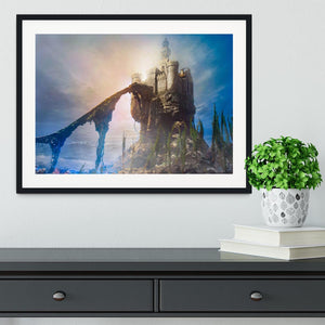 Old castle on the hill Framed Print - Canvas Art Rocks - 1