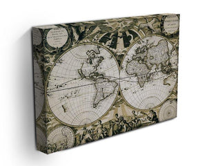 Old paper world map Holland Canvas Print or Poster - Canvas Art Rocks - 3