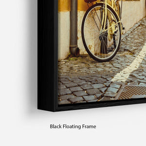 Old street in Rome Floating Frame Canvas
