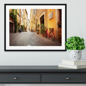 Old streets in Trastevere Framed Print - Canvas Art Rocks - 1