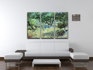 Olive Grove by Van Gogh 3 Split Panel Canvas Print - Canvas Art Rocks - 4