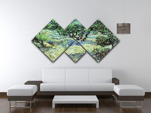 Olive Grove by Van Gogh 4 Square Multi Panel Canvas - Canvas Art Rocks - 3
