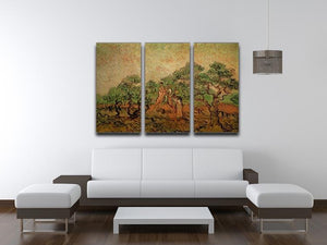 Olive Picking by Van Gogh 3 Split Panel Canvas Print - Canvas Art Rocks - 4