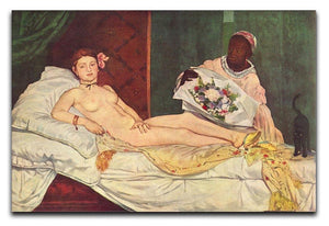 Olympia 1 by Manet Canvas Print or Poster  - Canvas Art Rocks - 1