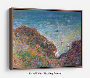 On the cliffs of Pour Ville Fine weather by Monet Floating Frame Canvas