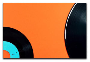 Orange Vinyl Canvas Print or Poster  - Canvas Art Rocks - 1