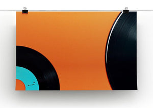 Orange Vinyl Canvas Print or Poster - Canvas Art Rocks - 2