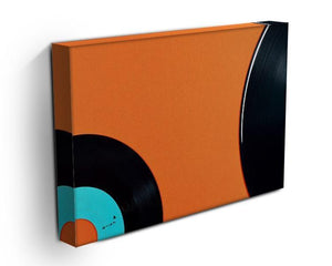 Orange Vinyl Canvas Print or Poster - Canvas Art Rocks - 3