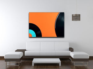 Orange Vinyl Canvas Print or Poster - Canvas Art Rocks - 4