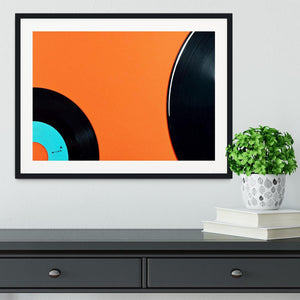 Orange Vinyl Framed Print - Canvas Art Rocks - 1