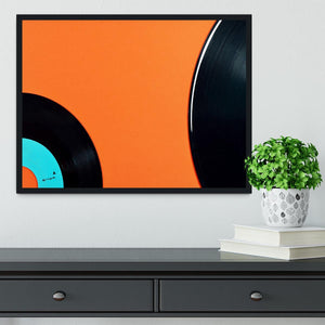 Orange Vinyl Framed Print - Canvas Art Rocks - 2