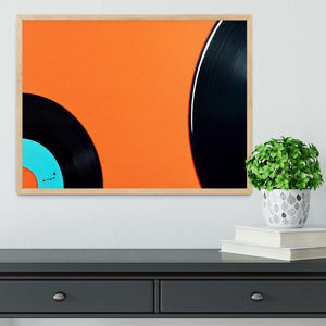 Orange Vinyl Framed Print - Canvas Art Rocks - 4