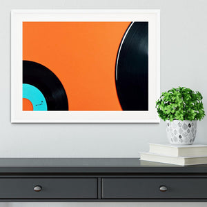 Orange Vinyl Framed Print - Canvas Art Rocks - 5