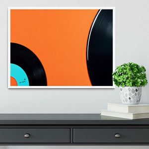 Orange Vinyl Framed Print - Canvas Art Rocks -6