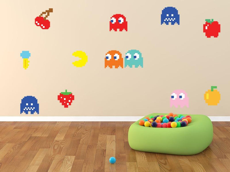 Pacman Wall Sticker Set - Canvas Art Rocks