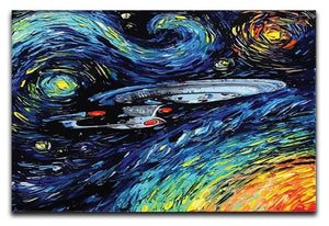 Painting USS Enterprise spaceship Canvas Print or Poster  - Canvas Art Rocks - 1