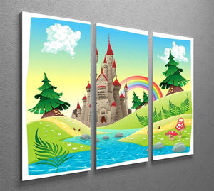 Panorama with castle 3 Split Panel Canvas Print - Canvas Art Rocks - 2