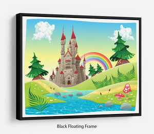 Panorama with castle Floating Frame Canvas