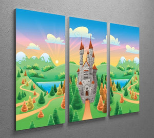 Panorama with medieval castle 3 Split Panel Canvas Print - Canvas Art Rocks - 2