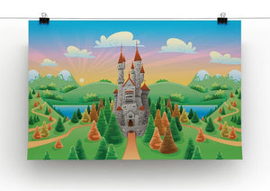 Panorama with medieval castle Canvas Print or Poster - Canvas Art Rocks - 2
