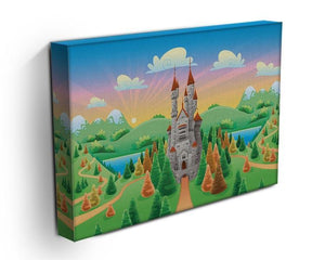 Panorama with medieval castle Canvas Print or Poster - Canvas Art Rocks - 3