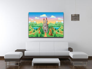 Panorama with medieval castle Canvas Print or Poster - Canvas Art Rocks - 4