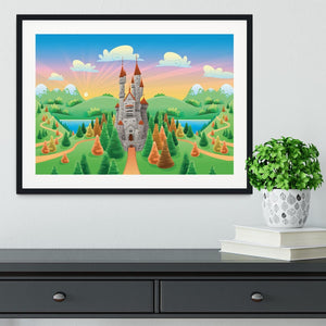 Panorama with medieval castle Framed Print - Canvas Art Rocks - 1