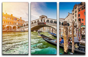 Panoramic view of Canal Grande 3 Split Panel Canvas Print - Canvas Art Rocks - 1