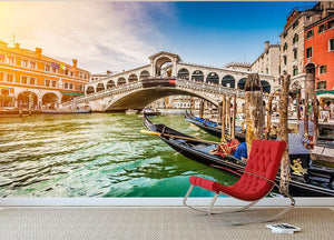 Panoramic view of Canal Grande Wall Mural Wallpaper - Canvas Art Rocks - 2
