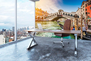 Panoramic view of Canal Grande Wall Mural Wallpaper - Canvas Art Rocks - 3