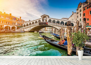 Panoramic view of Canal Grande Wall Mural Wallpaper - Canvas Art Rocks - 4