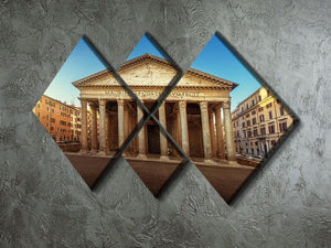 Pantheon in Rome 4 Square Multi Panel Canvas  - Canvas Art Rocks - 2