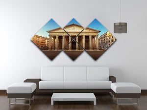 Pantheon in Rome 4 Square Multi Panel Canvas  - Canvas Art Rocks - 3
