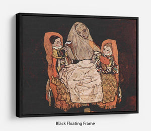 Parent with two children the mother by Egon Schiele Floating Frame Canvas - Canvas Art Rocks - 1