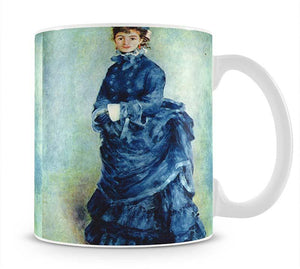 Paris girl the lady in blue by Renoir Mug - Canvas Art Rocks - 1