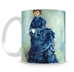 Paris girl the lady in blue by Renoir Mug - Canvas Art Rocks - 2